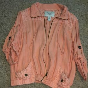 Hardly Worn Peach Cardigan